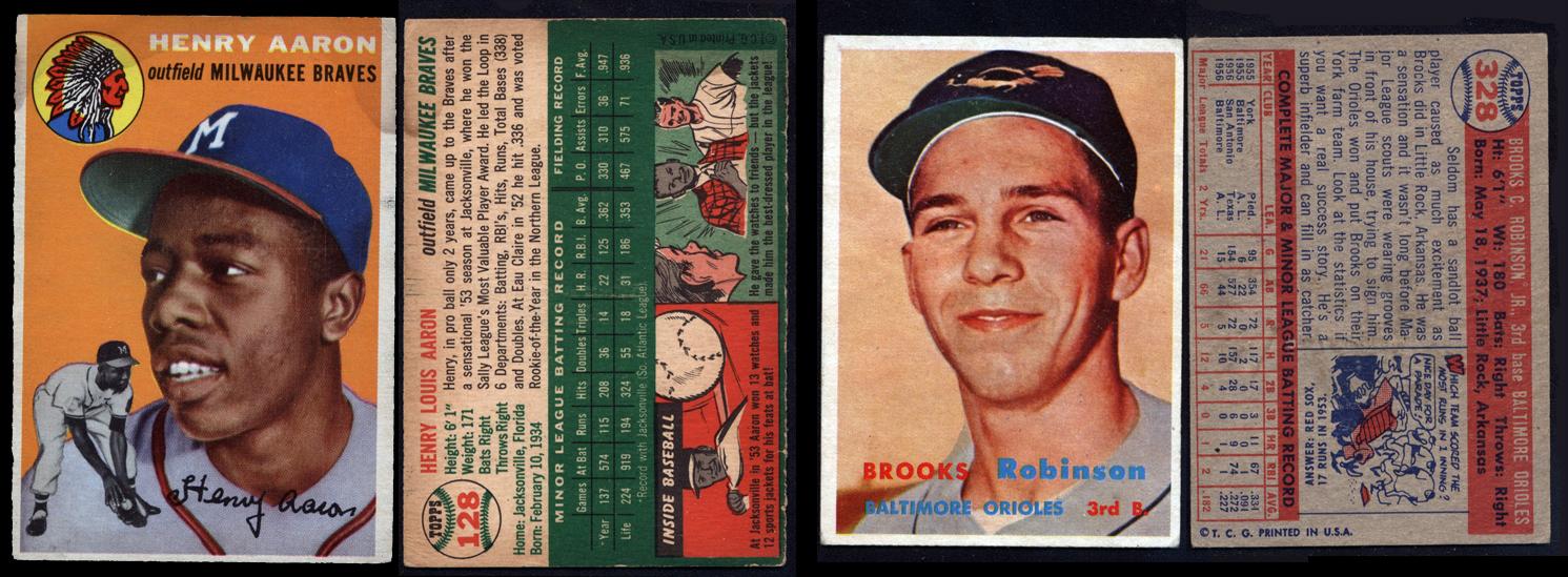 Hank Aaron Rookie & Brooks Robinson RC