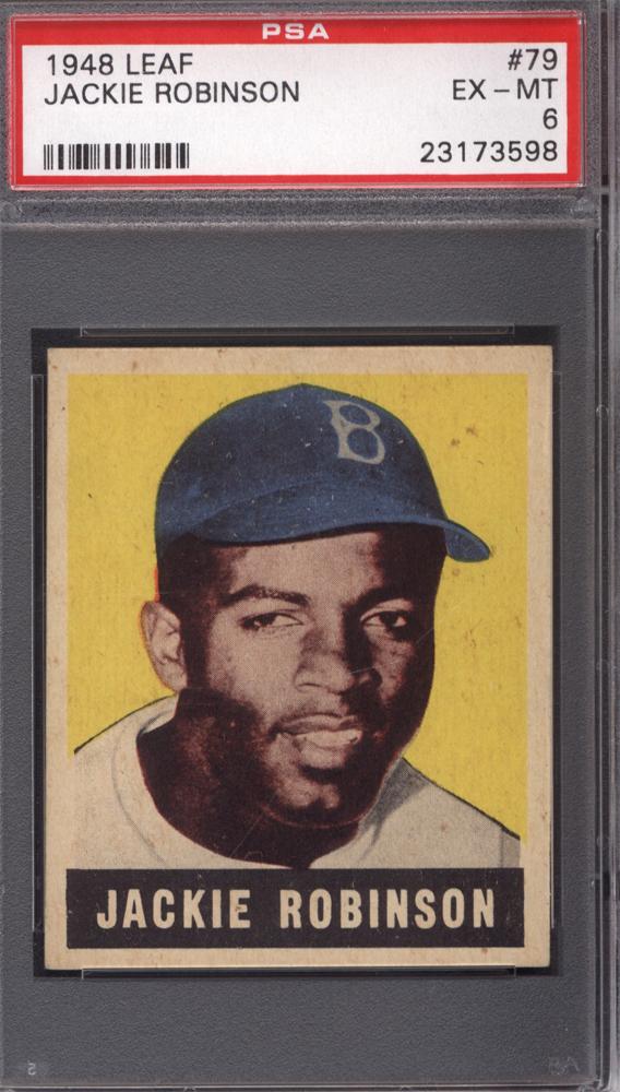 Jackie Robinson Rookie 1948 Leaf #79