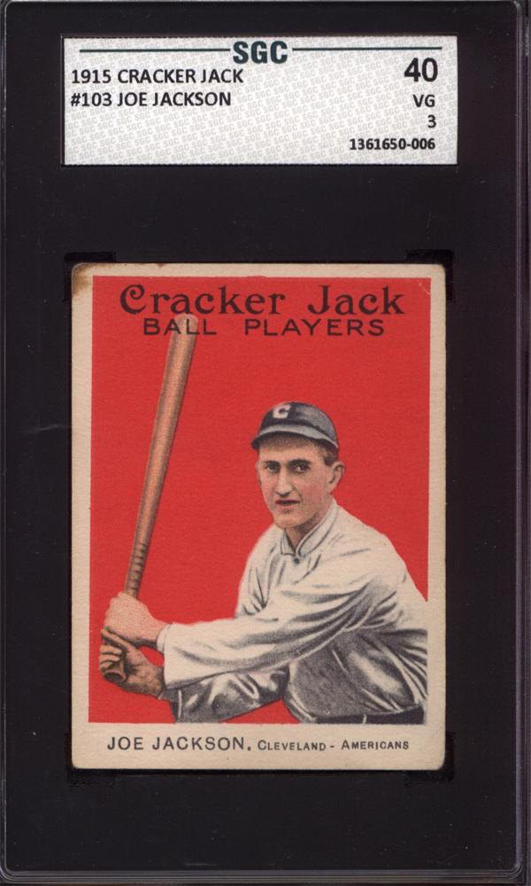 Shoeless Joe Jackson 1915 Cracker Jack