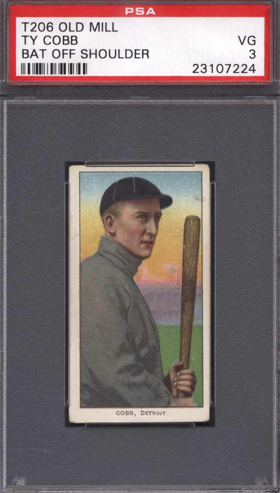 T206 Old Mill Ty Cobb PSA 3