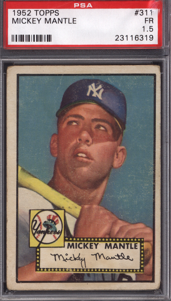 1952 Topps Mickey Mantle Rookie PSA 1.5