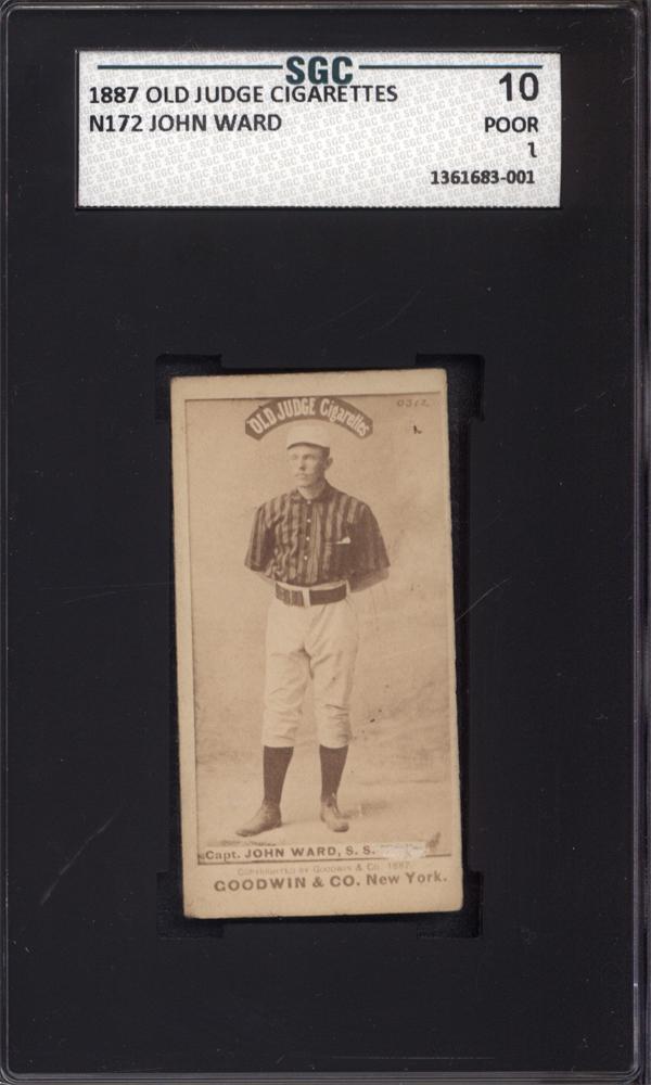 1887 N172 Old Judge John Ward New York SGC 10